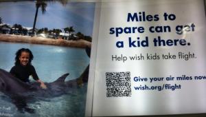Make-A-Wish airport ad qr code